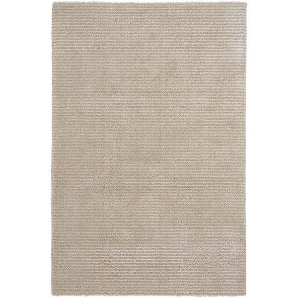 Beige Striped Area Rug
