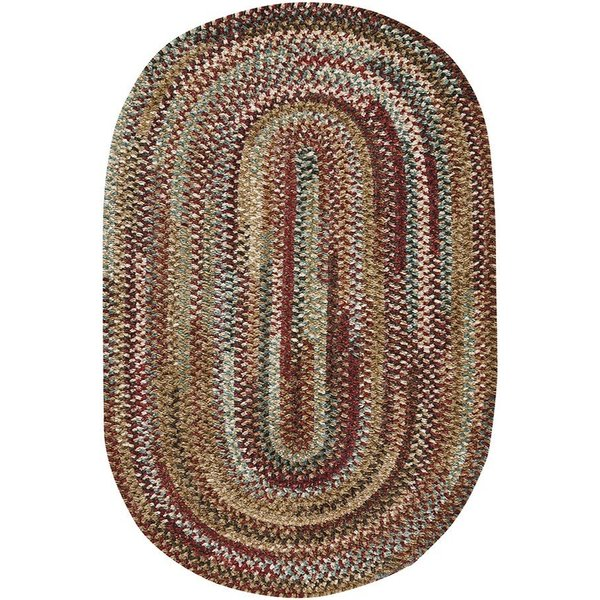 Deep Red Country Area Rug