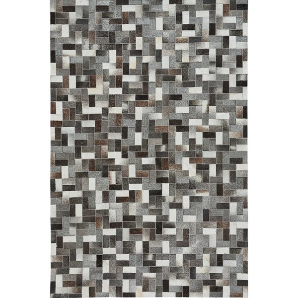 Grey, Black Brown (3680-930) Contemporary / Modern Area Rug