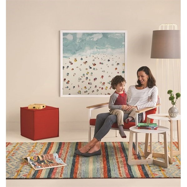 Blue, Red (2569-985) Contemporary / Modern Area-Rugs
