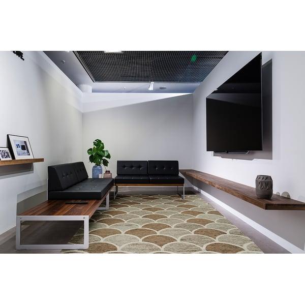 Tan Contemporary / Modern Area Rug
