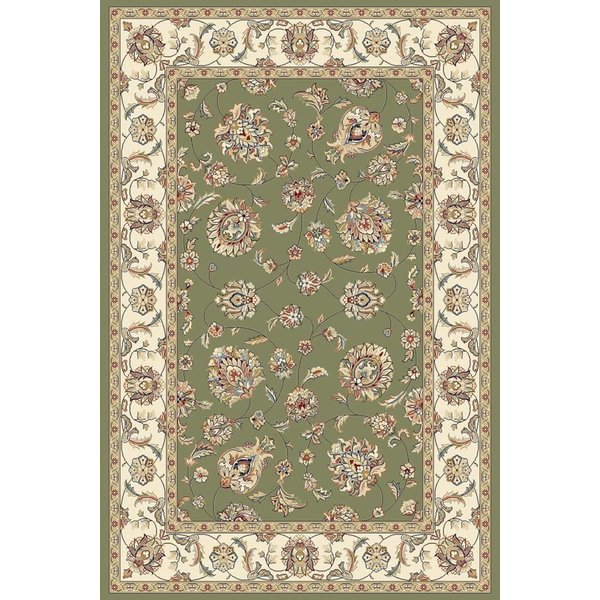 Green, Ivory (4464) Traditional / Oriental Area Rug