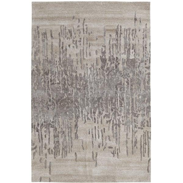 Grey (717) Contemporary / Modern Area Rug