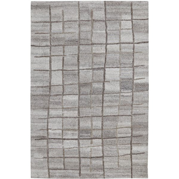 Grey (727) Contemporary / Modern Area Rug