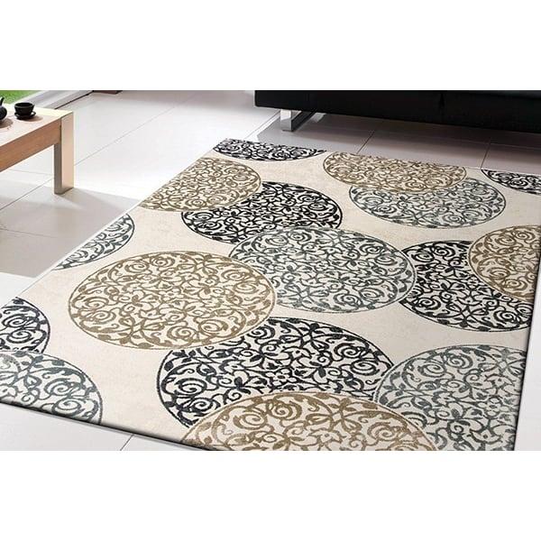 Ivory, Slate (118) Contemporary / Modern Area Rug