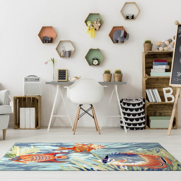 Ocean (2255-04) Beach / Nautical Area Rug