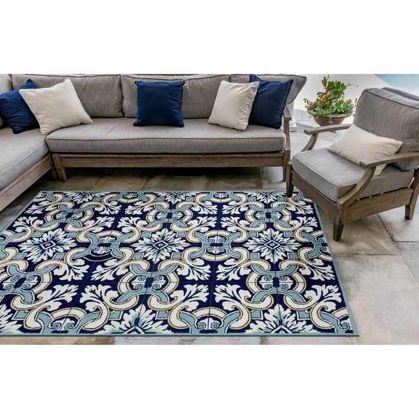 Navy (2253-33) Contemporary / Modern Area Rug