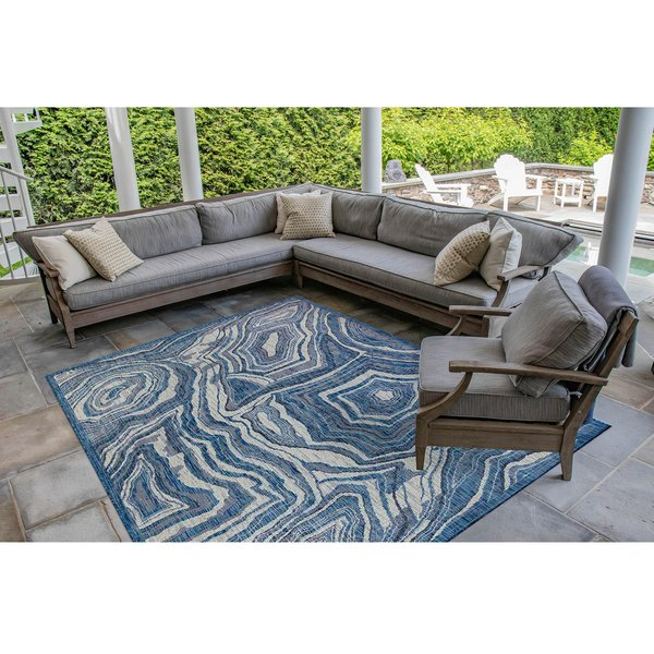 Navy (33) Abstract Area Rug