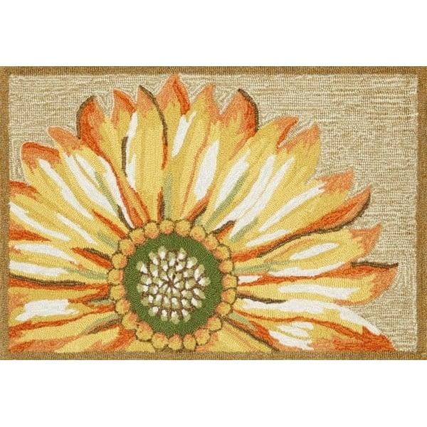 Yellow (1417-09) Floral / Botanical Area Rug