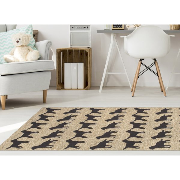 Black (1467-48) Animals / Animal Skins Area Rug