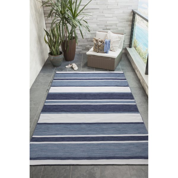 Navy (6317-33) Striped Area-Rugs