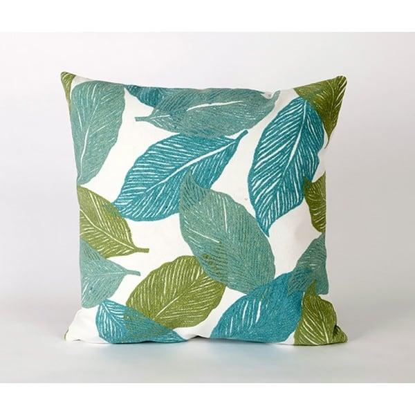Aqua, Green, White (4051-04) Floral / Botanical pillow