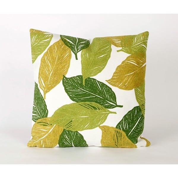 Green, Gold, White (4051-06) Floral / Botanical pillow
