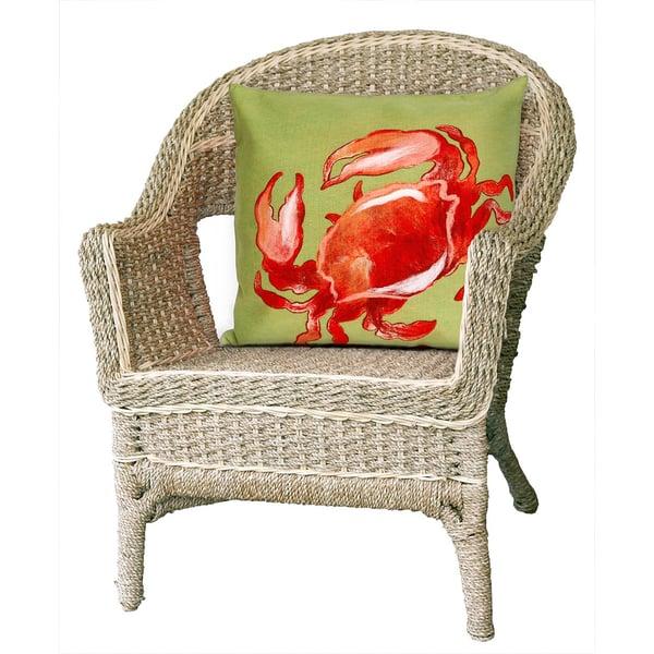 Red (4154-24) Beach / Nautical pillow