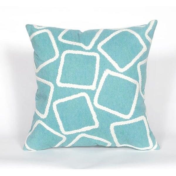 Aqua, White (4087-04) Geometric pillow