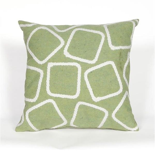 Green, White (4087-16) Geometric pillow