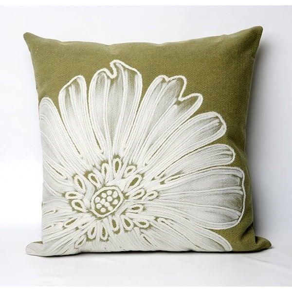 Green, White (3190-06) Floral / Botanical pillow