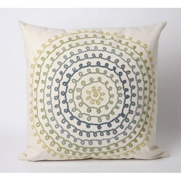 Ivory, Blue, Green, Yellow (4105-06) Contemporary / Modern pillow