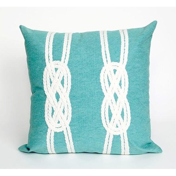 Aqua, White (4142-04) Beach / Nautical pillow