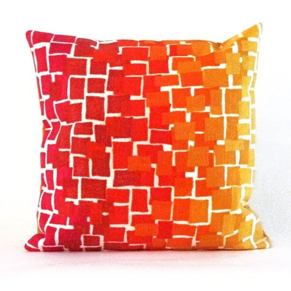 Red, Orange, Pink, White, Yellow (4159-24) Abstract pillow