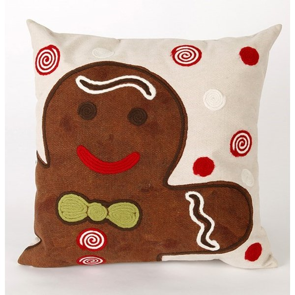 Chocolate, Black, Beige, Green, Red (4204-19) Novelty / Seasonal pillow