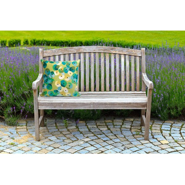 Lime, Blue, Green, Ivory (4138-06) Contemporary / Modern Pillow
