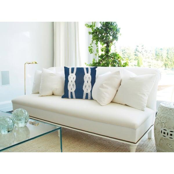 Navy, White (4142-33) Beach / Nautical pillow