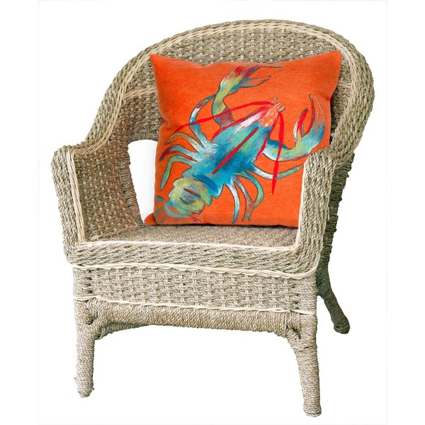Orange, Blue, Green, White (4153-17) Beach / Nautical Pillow