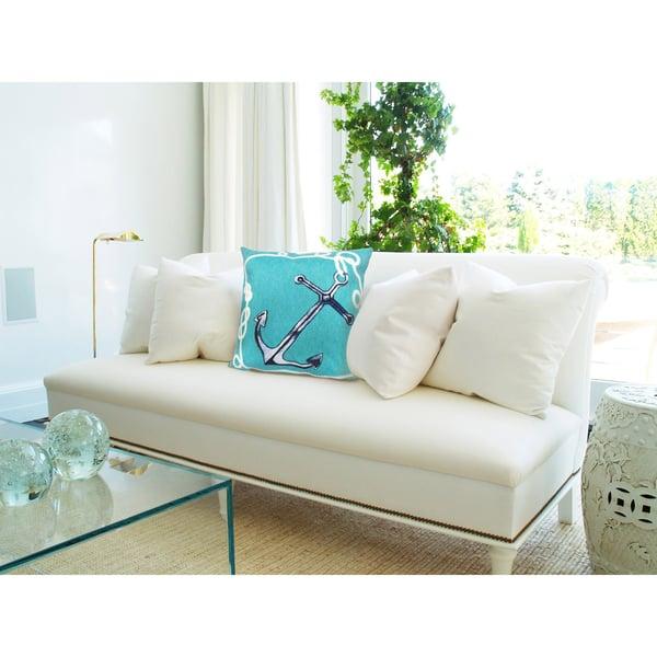 Blue, White (4184-04) Beach / Nautical Pillow