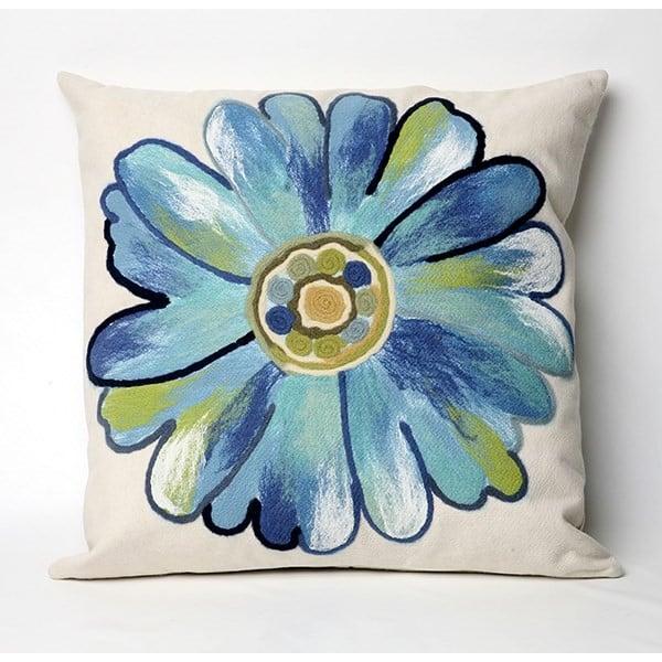 Aqua, Blue, Green, White (3149-04) Floral / Botanical pillow