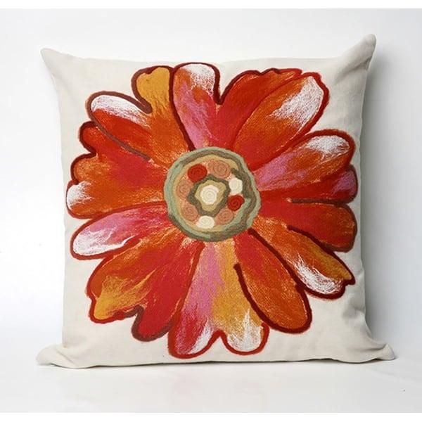 Orange, Pink, White (3149-17) Floral / Botanical Pillow