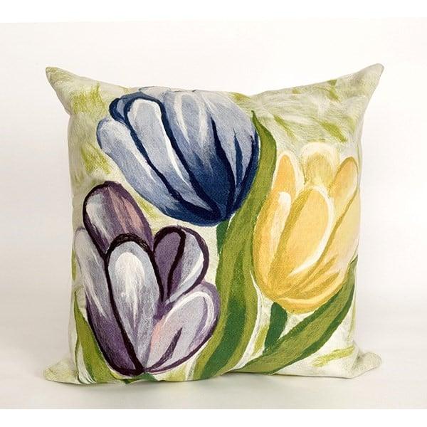 Blue, Purple, Yellow (3208-06) Floral / Botanical Pillow