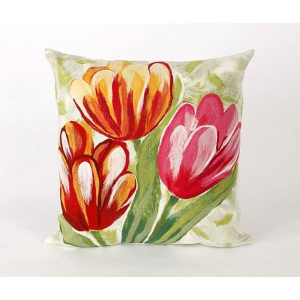 Red, Pink (3208-24) Floral / Botanical pillow