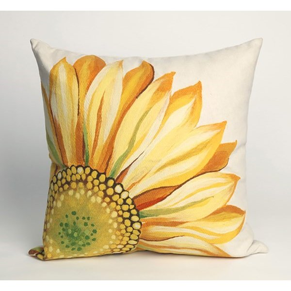 Yellow, Green (3216-09) Floral / Botanical pillow