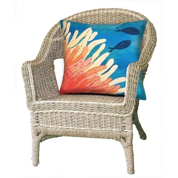 Orange (4211-17) Beach / Nautical pillow