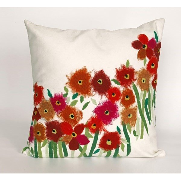 Red, Green, White (3209-24) Floral / Botanical pillow
