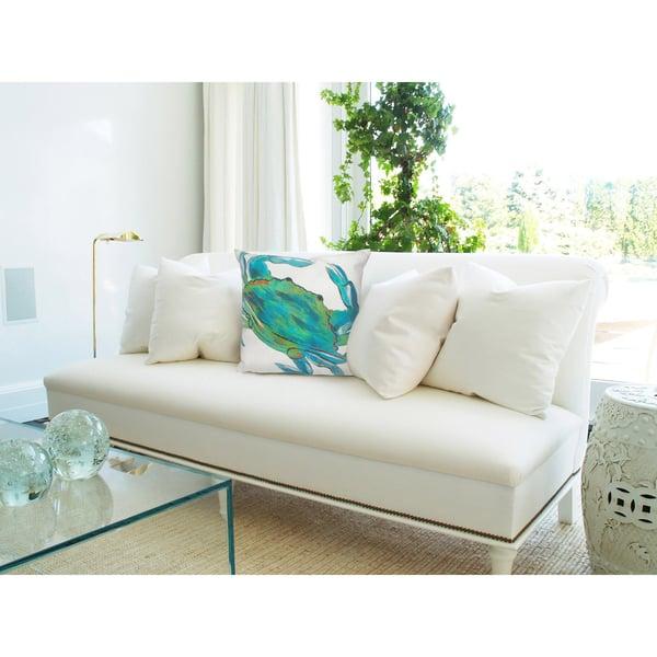 Blue, Green, White (4191-03) Beach / Nautical Pillow