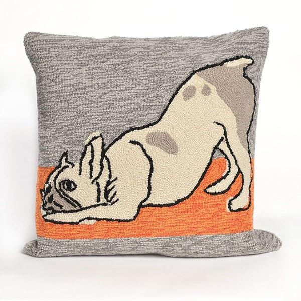 Grey, Brown, Green, Orange (1488-47) Animals / Animal Skins Pillow