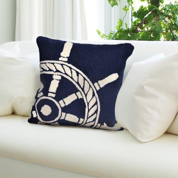 Navy, Ivory (1456-33) Beach / Nautical pillow