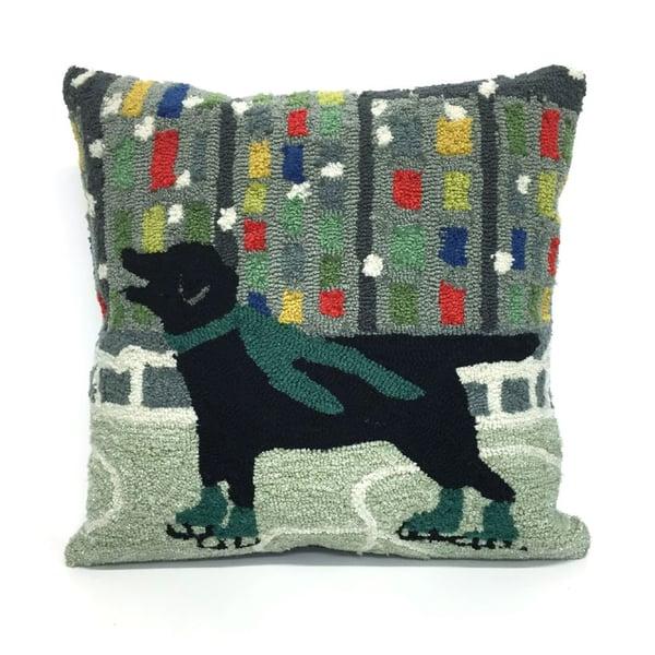 Green, Black, Blue, Grey, Red (1526-06) Novelty / Seasonal Pillow
