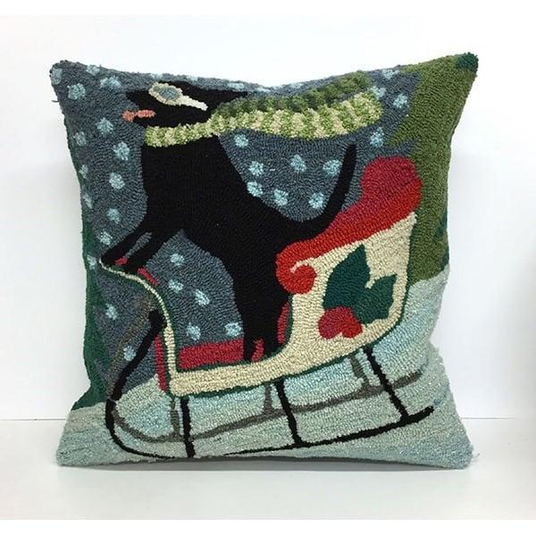 Black, Brown, Green, Gray (1564-44) Novelty / Seasonal pillow