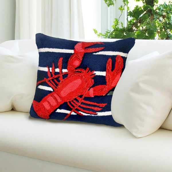 Navy, Red, White (1595-33) Beach / Nautical pillow