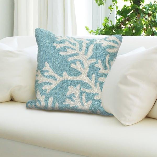Aqua (1620-04) Beach / Nautical Pillow