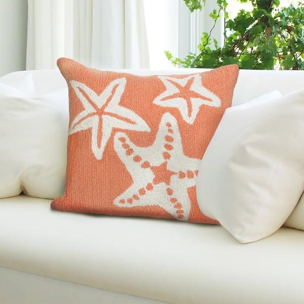 Coral (1667-18) Beach / Nautical Pillow