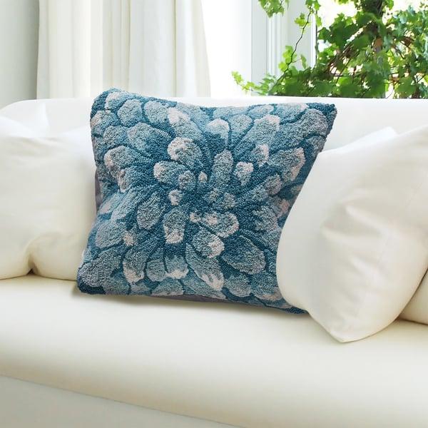Aqua (1828-04) Floral / Botanical pillow