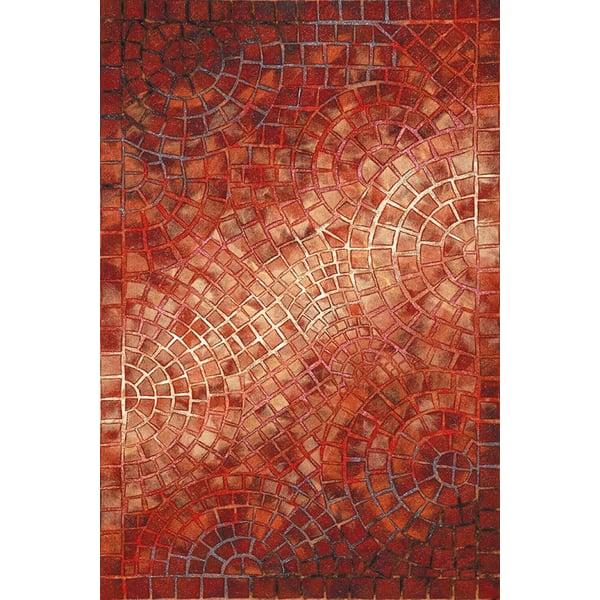 Red (3257-24) Geometric Area Rug