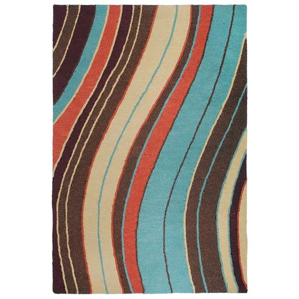 Brown (6034-44) Contemporary / Modern Area Rug