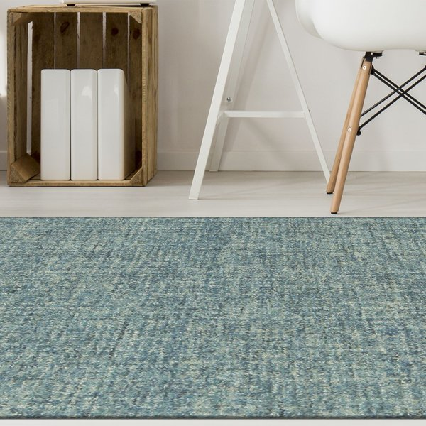 Blue (9503-03) Solid Area-Rugs