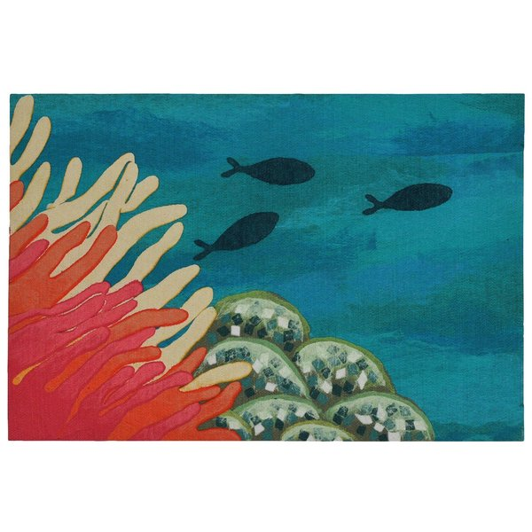Coral (3292-17) Beach / Nautical Area Rug