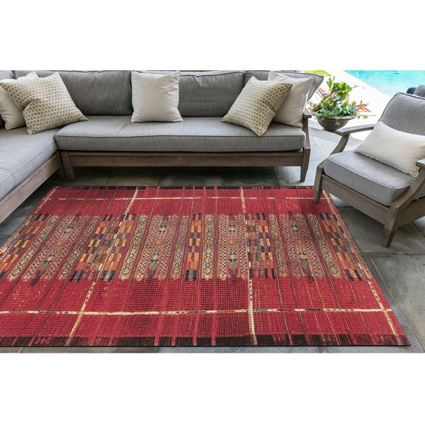 Red (8057-24) Southwestern Area Rug